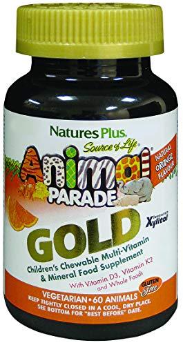 Natures Plus Animal Parade GOLD Children's KauTabletteten Multi Orange , 60 - Multivitamin 60 Kautabletten