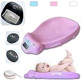 Pèse bébé électronique rose - Balance avec option musicale et mémoire intégrée