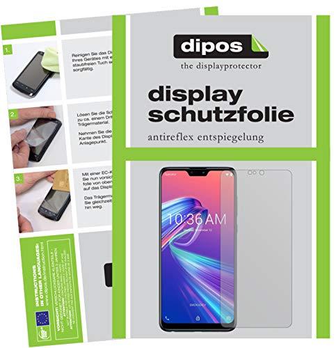 dipos I 4X Schutzfolie matt passend für Asus ZenFone Max Pro (M2) Folie Bildschirmschutzfolie (2X Vorderseite + 2X Rückseite)