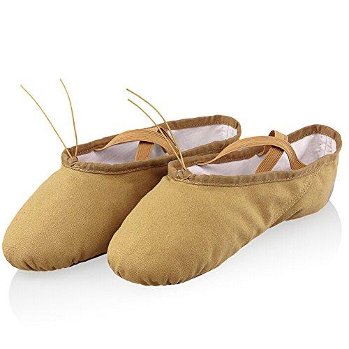 lisianthus002Little Mädchen Classic Ballett üben Schuhe (Little Kid) Braun