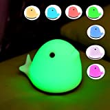 Best Romantic Time Watch Phones - Children Night Light, Hankyky Whale Baby LED Soft Review