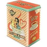 Nostalgic-Art 81884 Say it 50's - Tea It's Like A Hug in a Cup, Vorratsdose L