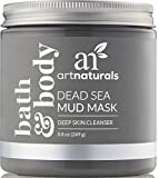 ArtNaturals Dead Sea Mud Mask - for Face, Body & Hair 8.8 oz, 100% Natural and Organic Deep Skin Cleanser - Clears Blemishes, Reduces Pores & Wrinkles - Ultimate Spa Quality - Mineral Infused Additive