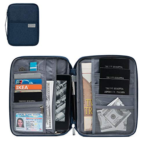 Babo Reisepasshülle für Reisepass, Reisepass, Mehrzweck-Dokumenten-Organizer mit Reißverschluss - Brieftasche Mehrzweck
