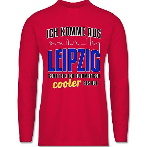 Shirtracer Städte - Ich Komme Aus Leipzig - Herren Langarmshirt Rot