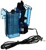 Penn-Plax Cascade Schrank Aquarium Filter mit Quad Filtration System reinigt bis zu 10Gallonen Tank