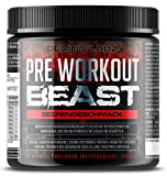 Pre Workout Beast (Beerengeschmack) - 40 Portionen (300g) - Hardcore Pre Workout Booster mit Kreatin...
