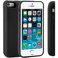 Funda Batería iPhone 5 5S 5C SE, LifeePro 4200mAh Batería Recargable Externa Ultra Delgada Protector portátil Carga Caso de Prueba de Choque para iPhone 5 5S 5C SE Negro