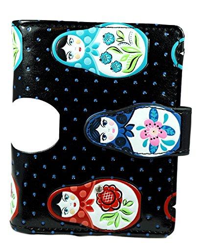 Shagwear portafoglio per giovani donne Small Purse : Diversi colori e design: (Bambole russe / Russian Dolls)