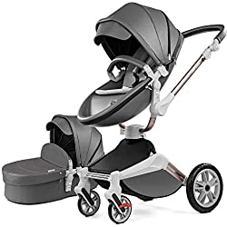 Hot Mom passeggino per Bambini Marrone 2019, Grigio Scuro