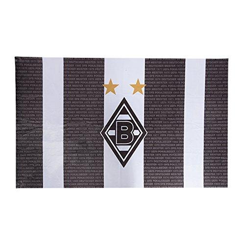 VFL Borussia Mönchengladbach Herren Borussia Mönchengladbach-Fohlenelf-Artikel-Hissfahne Home Flagge, Mehrfarbig, 150 x 100 cm