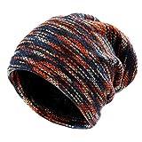 Slouch Mütze Hut Baggy Skull Cap Mütze mit Warm gefüttert Unisex Retro Slouchy übergroßen Ski Wintermütze, Rot, Einheitsgröße