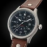 Gigandet Automatik Herren-Armbanduhr Red Baron I Fliegeruhr Uhr Datum Analog Lederarmband Braun Schwarz G8-002 - 3