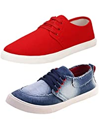 0e2014aba69 Bersache Men s Multicolor Combo Pack of 2 Stylish and Elegant Casual    Party Wear Canvas Sneaker