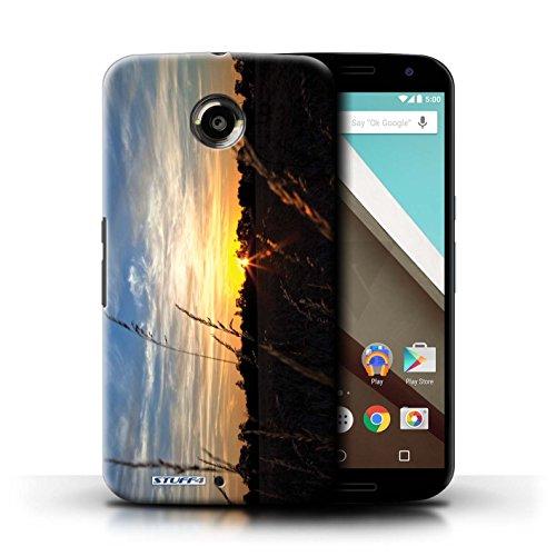 Kobalt® Imprimé Etui / Coque pour Motorola Nexus 6 / Bleu Chêne conception / Série Coucher du Soleil limite forestière