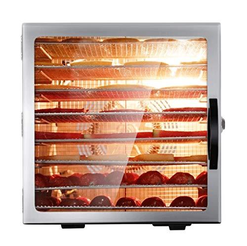 HHXxxxxx Edelstahl Dörrgerät digital,Temperaturregler von 35-90°Celcius, 8 Etagen, LED-Anzeige mit Timer,Food Dehydrator für Lebensmittel Obst Fleisch Früchte Trockner, 450W