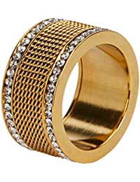 7f9633a023f1 Parfois - Anillo Stainless Steel Golden - Mujeres - Tallas M - Dorado