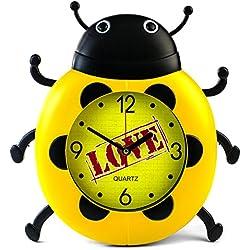 Reloj pared niños mariquita Mariquita en amarillo