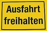 Alpertec Schild Ausfahrt freihalten, gelb/schwarz, 48071380