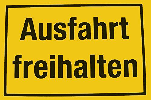 Alpertec 48071380 Schild Ausfahrt freihalten gelb-schwarz