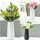 Vase en céramique de style scandinave Fleur Artefact Home Decor Jardin en céramique poterie classique Pot de fleurs Plant Bureau Mini vase simples Blanc et Noir