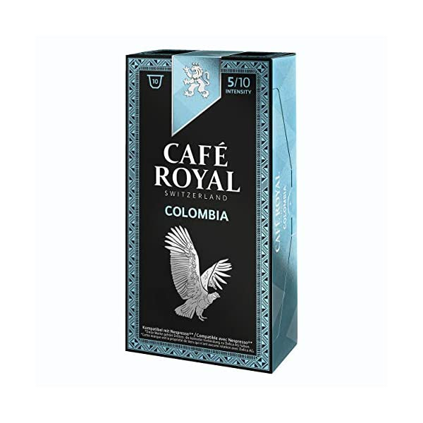 51Ki5sC-T4L._SS600_ Café Royal Single Origin Colombia, caffè, caffè tostato, Capsule, Nespresso Compatibile, 50Capsule