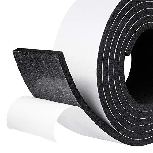 Moosgummi selbstklebendes Dichtungsband 50mm(B) x6mm(D) Schaumstoff klebeband Dichtungsband Schaumstoff selbstklebend für Kollision Siegel Schalldämmung Gesamtlänge 4m (2 Rollen je 2m lang)