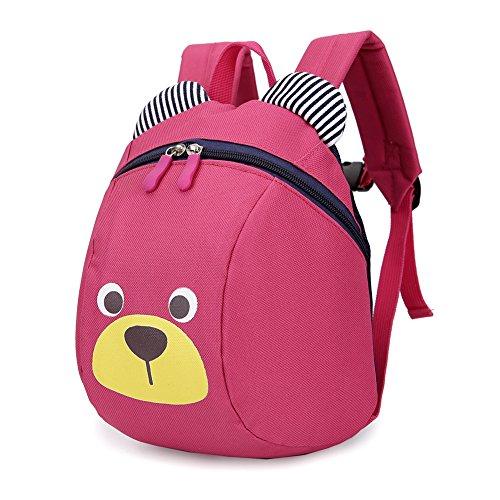 Adidas Kinder Baby, Jungen und Mädchen in der Schule Rucksack anti-lost mit Traction Seil rot rosig (Baby-jungen-seil)