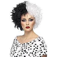 Parrucca Crudelia Capelli finti bicolore da donna bianco-nera -  Capigliatura anni  80 Toupet f6dcd6fc0956