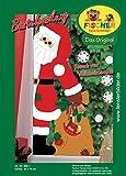 Fischer Fensterbild BESUCH VOM WEIHNACHTSMANN / Bastelpackung / Größe: ca. 35x75 cm / zum Selberbasteln / Basteln zu Weihnachten aus Papier und Pappe