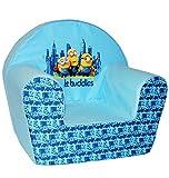 alles-meine.de GmbH Kindersofa / Kindersessel -  Minions - Ich einfach unverbesserlich  - kleines Sofa - für 1 bis 3 Jahre - Sessel / Kinderstuhl - BLAU - Kindermöbel für Mädch..
