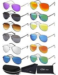 Premium Set, Pilotenbrille Verspiegelt Fliegerbrille Sonnenbrille Pornobrille Brille mit Federscharnier