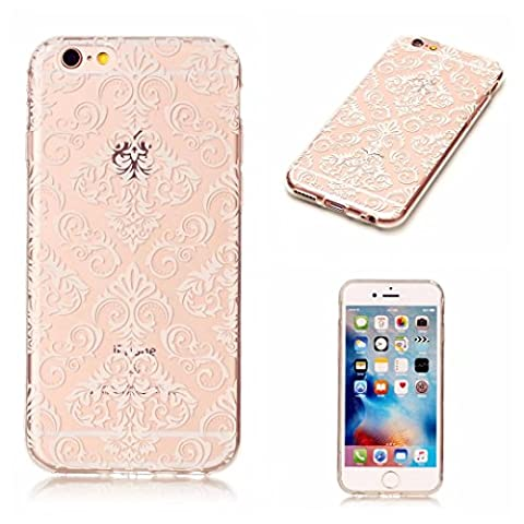 Etui pour iPhone 6 Plus/ iphone 6s Plus KSHOP Coque Protection en Gel Silicone TPU Premium Bumper Cover 2017 Transparent Crystal Design avec Motif - Motif Rose