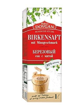 Russischer Birkensaft mit Minzgeschmack, 6er Pack (6 x 1 l)