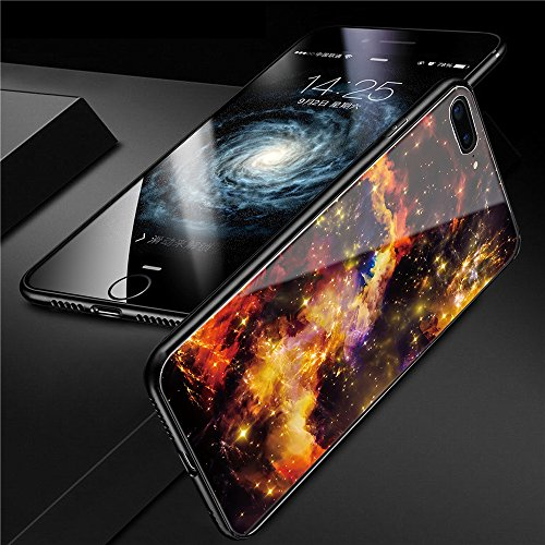 iphone 7 Plus Tempered Glass Case,SUNWAY [Starry Sky][Scratch Resistant] 3 In 1 Ultra-Thin PC Hard Cover 360 Degree Protection Slim Case For Apple iphone 7 Plus - Yellow