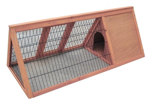 """Easipet Wooden triangle rabbit 46"""" Hutch 21385 1"""