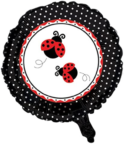 Creative Converting Ladybug Fancy Two Sided Mylar Foil Round Balloon