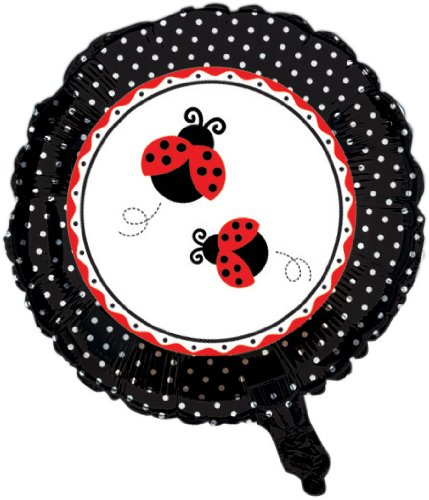 Creative Converting Ladybug Fancy Deux Face Feuille de Mylar Ballon Rond