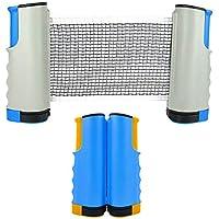 LZYMSZ Paquete de 2 Red de Tenis de Mesa, Red Ajustable de Ping Pong Repuesto Portátil Retráctil Table Tennis Net para Al Aire Libre/Interiores, Abrazaderas de Soporte Se Adhieren A Cualquier Mesa