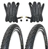 2 x Fahrradreifen Kenda Pannensicherre 28 Zoll 28x1.60 42-622 700x40C K935 K-Shield inklusive 2 x 28' Schlauch mit Autoventil