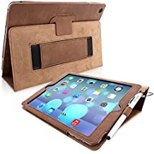 iPad Air Case & New 2017 iPad 9.7 inch Case, Snugg - Brown Leather iPad Air (2013) & iPad (2017) 9.7 inch Smart Case Cover [Lifetime Guarantee] Protective Flip Stand Cover - Luxury Lightweight Design With Auto Wake / Sleep Function