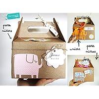 Regalo para Bebé con: Cupcake (Babero TOMMEE TIPPEE + Calcetines), Esponja natural SUAVINEX y Calcetines en Forma de Piruleta/Flor | Baby Shower Gift Idea | Disponible en versión Niña, Niño o Unisex