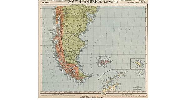 Patagonia Cartina Geografica.Patagonia Argentina Cile Tierra Del Fuego Falklands S Georgia Letts 1889 Stile Antico Motivo Mappa Geografica Dell Argentina Amazon It Casa E Cucina