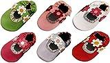 MiniFeet Weiche Leder Babyschuhe, Baby Sandalen, 0-6, 6-12, 12-18 und 18-24 Monate