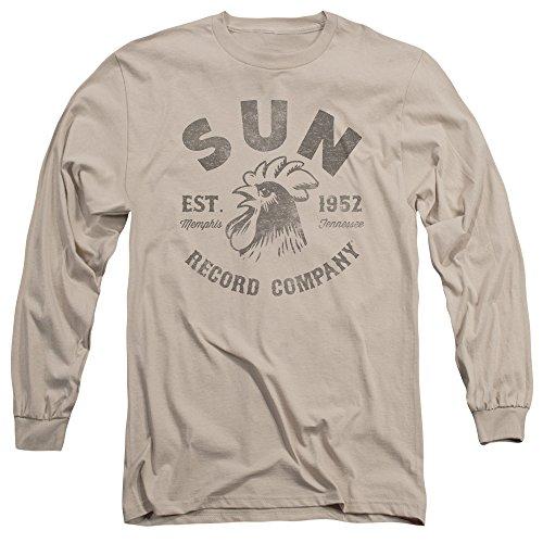 2Bhip Sun Records Company Record Label Vintage Logo Adult Tan Long Sleeve T-Shirt