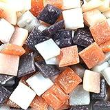75 carreaux Carrés pour mosaïque 10mm couleurs assorties au choix (50 grammes) (Nuances caramel)...