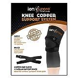 ionocore® Kniestütze Kupfer-Kompressionssystem mit Patella Knieschützer und Kniehülsen. Groß: 17.5