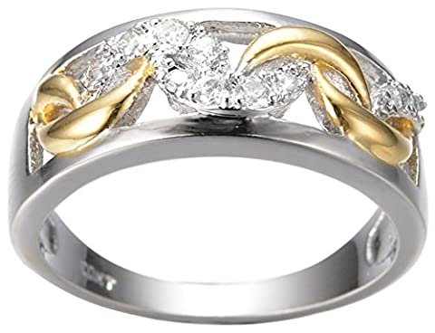 SaySure White Gold Filled Anniversary Wedding & Engagement Dragon Ring