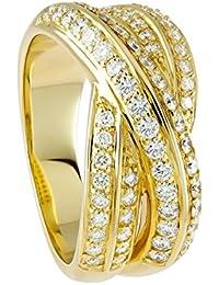 Diamond Line Damen - Ring 585er Gold 64 Diamanten ca. 0,75 ct., gelbgold