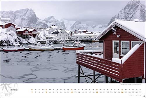 Skandinavien Globetrotter: Von stillen Wäldern, Seen und Fjorden. Wandkalender 2020. Monatskalendarium. Spiralbindung. Format 58 x 39 cm: Alle Infos bei Amazon